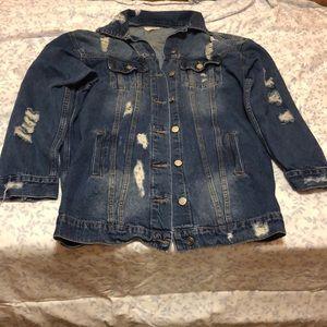 Fashion nova Distressed Jean Jacket
